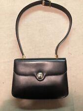 Koret Vintage Black Leather Shoulder Bag With Coin Purse
