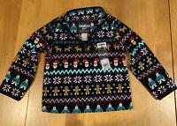 OSHKOSH B'gosh Navy Holiday Fleece Pullover Quarter Zip  Size 2T