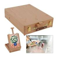 Portable Wooden Drawers Artist Table Desk Top Easel Stand Sketch Box Painting UK