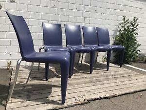 Louis 20 Philippe Starck Design Stuhl / Stühle in Lila Vitra Top Sidechair