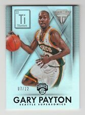2013/14 PANINI TITANIUM GARY PAYTON REFRACTOR SSP CARD # 200 NUMBERED 7/22
