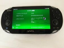 Z3682 Sony PS Vita 1100 console Crystal Black 3G/Wi-Fi model PCH-1100