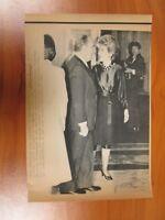Vtg AP Wire Press Photo Ronald Reagan Wife Nancy, French Francois Mitterrand #1