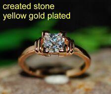 1ct 5.5mm princess single DIAM0ND ring size P 8