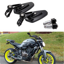 "Motorcycle Black 7/8"" Handle Bar End Side Mirrors For Yamaha FZ-09 FZ-07 FZ6N US"