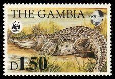 """GAMBIA 518 (SG547) - World Wildlife Fund """"Nile Crocodile"""" (pf5229) $29"""