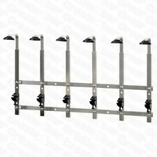 6 Bracket Wall Mounted Optic Rack - Pub / Bar Spirit Measure Bottle Rail