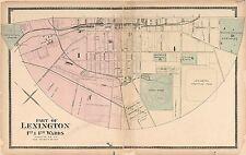 1877 Bourbon Clark Fayette Jessamine Woodford county Kentucky plat map Atlas P65