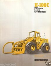 Equipment Brochure - International - IH H-100C - Pay Loader Logger 1975 (EB896)