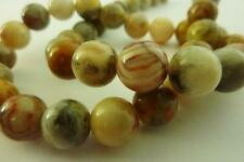 20 pce Round Crazy Lace Agate Gemstone Beads 12mm Jewellery Making Craft