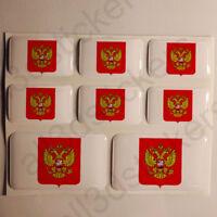 Pegatinas Rusia Escudo de Armas Pegatina Vinilo Adhesivo Resina 3D Relieve