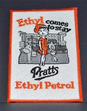 Embroidered cloth badge -   Pratts Petrol Ethyl -- art deco style ?? .