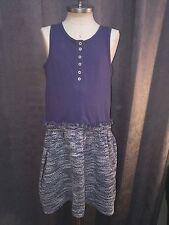 7 For All Mankind Girls Size M Medium Blue Sleeveless Henley Tank Top Dress