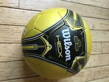 Wilson hex evo soccer ball size 3 youth yellow black silver Good Condition