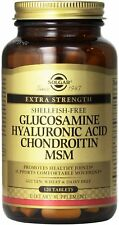Glucosamine Hyaluronic Acid Chondroitin MSM (Shellfish-Free), Solgar, 120 tablet