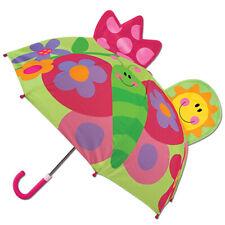 Stephen Joseph Regenschirm für Mädchen Schmetterling Kinderschirm