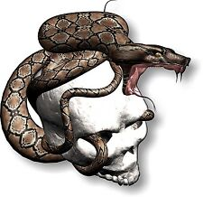 Vinyl sticker/decal Small 90mm snake skull