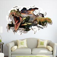 Dinosaur 3D Window View Removable Wall Sticker Art PVC Decal Decor Mural