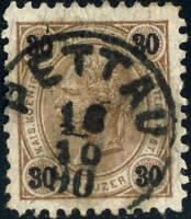 """AUTRICHE/AUSTRIA/ÖSTERREICH 1890 """" PETTAU """" (k.3687a) Styria/Steiermark on Mi.59"""