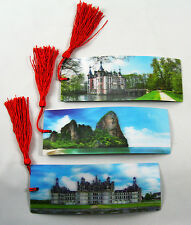 3 Bookmarks - 3D Lenticular - European Castles - Chateau Chambord & Rock