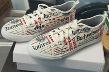 New Fila Budweiser Label Red White Blue Canvas Shoes Men's Size 9.5