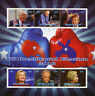Chad 2016 MNH Donald Trump Hillary Clinton US Elections 6v M/S Presidents Stamps