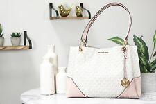 Michael Kors Nicole Large Blossom Multi Signature Shoulder Tote Handbag Purse