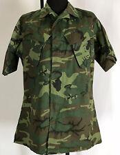 Vintage USMC Jungle Camo ERDL Tropical Combat Shirt Medium Long
