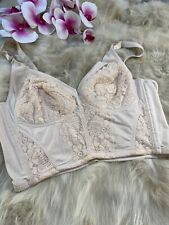 Unbranded beige padded wireless Corset bustier size  XXL CUP C