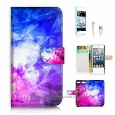 ( For iPod 6 / itouch 6 ) Flip Case Cover P2763 Abstract