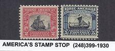 1925 US Norse-American Centennial SC 620 621 - MH FVF VF