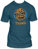 Adult Men's The Thing Thriller Movie Circle Portrait Ink Blue T-Shirt Tee