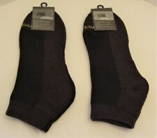 2 pr New Men's Eddie Bauer Dk Brown Low Cut COOLMAX Ankle/Quarter Socks One Size