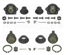 Set of 2 Front Lower & Upper Press-in & Bolt-on Ball Joints for Nissan D21 RWD