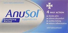 Anusol Soothing Relief 4 Way Action | 12 Suppositories | **FREE POST**