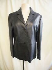 "Ladies Leather Jacket Cortefiel, bust 42"", length 27"", black, very soft 7178"