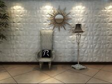 Eco-friendly ! Paintable, 3m2 DIY 3D Wall Panels, glue on wall tiles, Diamond