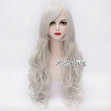 Angel Sanctuary Rosiel Sliver White Long 70CM Curly Anime Cosplay Full Wig