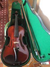 alte 4/4 Geige Violine aus Frankreich mit Kasten und Bogen