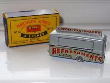 (S) matchbox moko lesney MOBILE REFRESHMENTS BAR - 74 SPW factory error