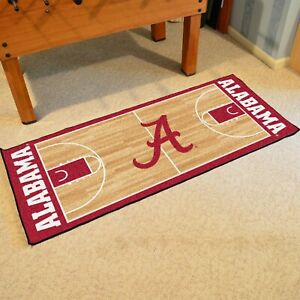 "Alabama Crimson Tide 30"" X 72"" Basketball Court Runner Area Rug"