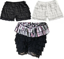 8 Layers Women Sexy Frilly Ruffle Lace Safety Knicker Hot Pants Shorts Burlesque