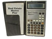 Vintage Real Estate Master Pocket Calculator w/Instructions & Case