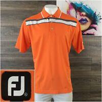 FootJoy FJ Mens Short Sleeve Golf Polo Shirt Size XL Fox Hill Orange
