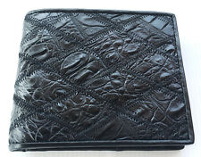 Genuine Real Crocodile Alligator Belly Skin Leather Man Bifold Wallet Black New