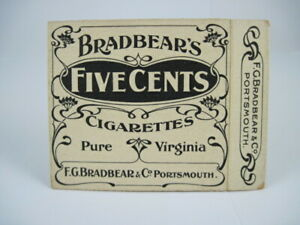 Bradbears Five Cents cigarettes (20) - empty packet - c.1905