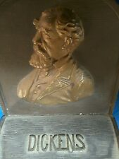 Charles dickens .cast iron book end.bradley and hubbard.