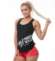 WOMENS GYM SINGLET FITNESS TRAINING WORKOUT TOP ACTIVEWEAR SELF MADE LIFT WEAR