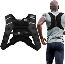 Sport Weighted Vest Workout 4/6/12/20/25/30lbs home gym black adjustable buckles