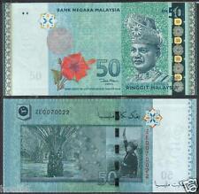 MALAYSIA 2013 2015 RM50 Zeti Replacement Note ZE NO Zero UNC